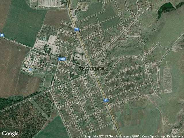 Сателитна карта на Карапелит