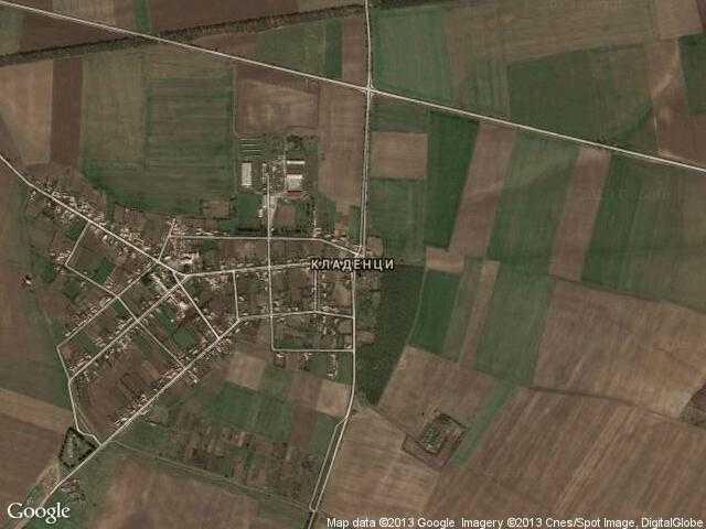Сателитна карта на Кладенци
