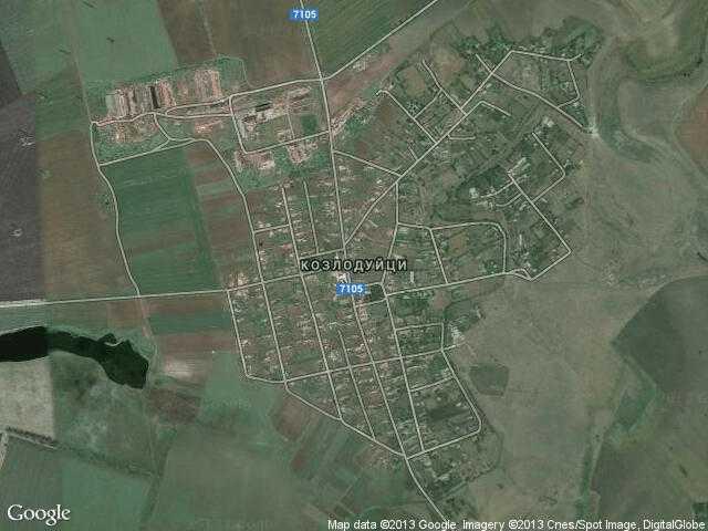 Сателитна карта на Козлодуйци