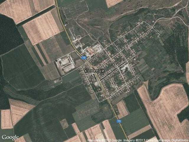 Сателитна карта на Коларци