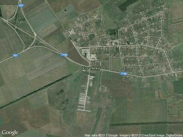 Сателитна карта на Кочмар