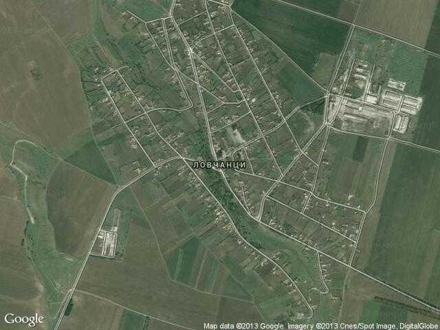 Сателитна карта на Ловчанци