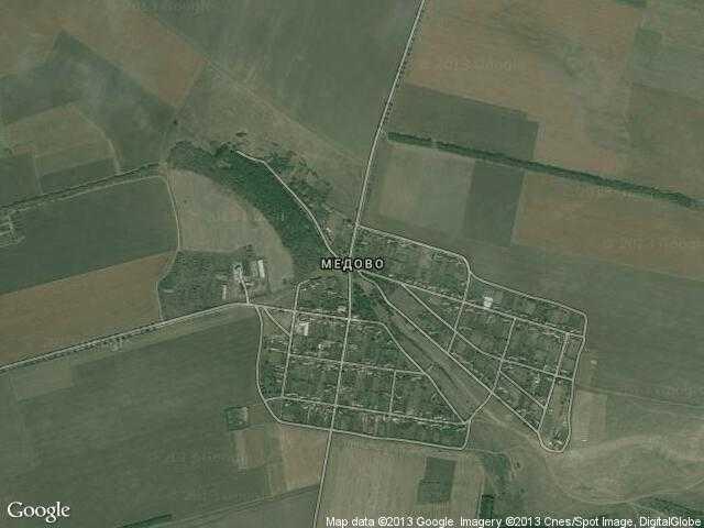 Сателитна карта на Медово