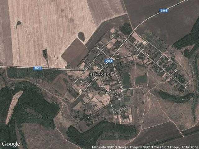 Сателитна карта на Нейково