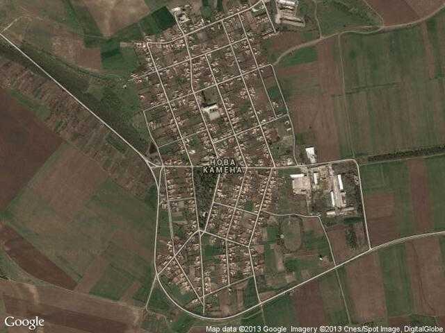 Сателитна карта на Нова Камена