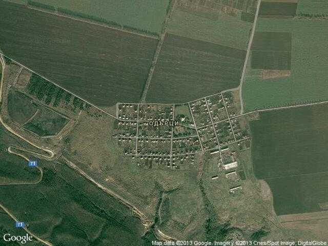 Сателитна карта на Одърци