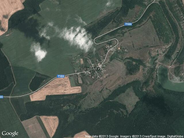 Сателитна карта на Оногур