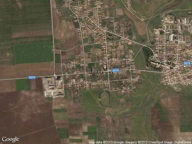 Сателитна карта на Орляк