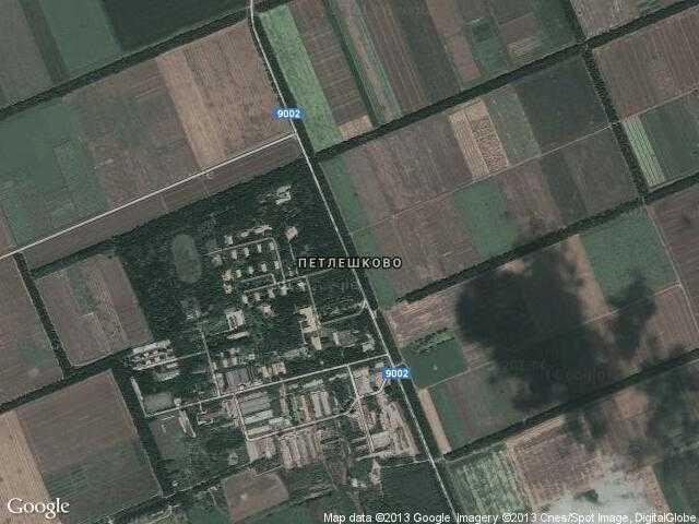 Сателитна карта на Петлешково