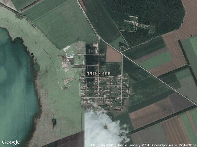 Сателитна карта на Пленимир