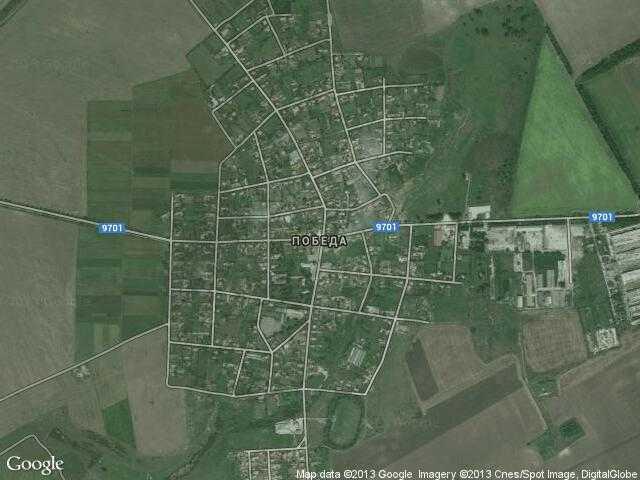 Сателитна карта на Победа