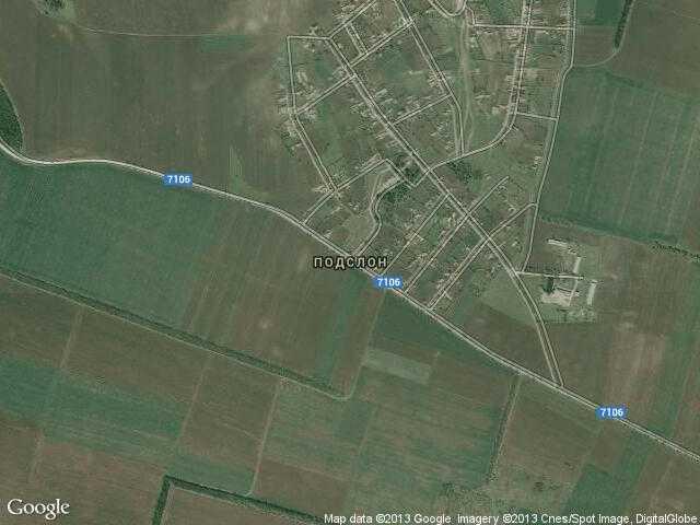 Сателитна карта на Подслон
