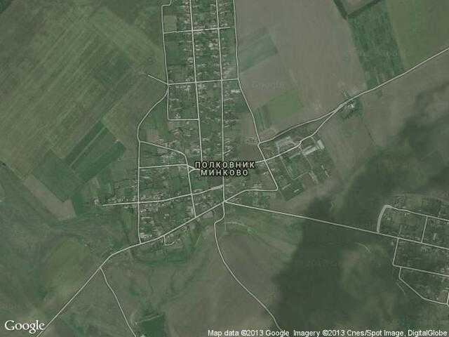 Сателитна карта на Полковник Минково