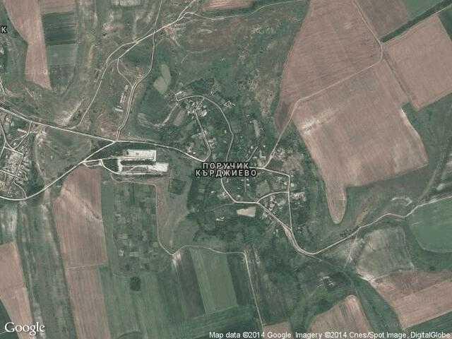 Сателитна карта на Поручик Кърджиево