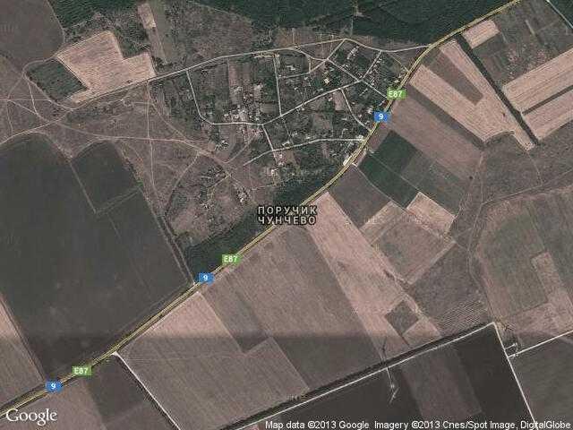 Сателитна карта на Поручик Чунчево