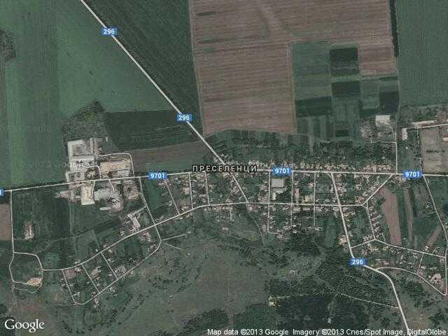 Сателитна карта на Преселенци