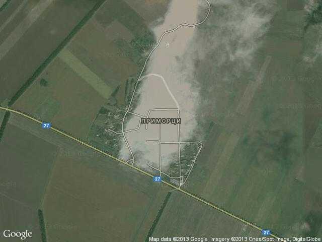 Сателитна карта на Приморци