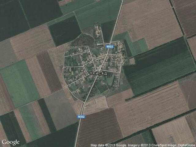 Сателитна карта на Присад