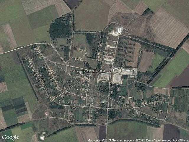 Сателитна карта на Раковски