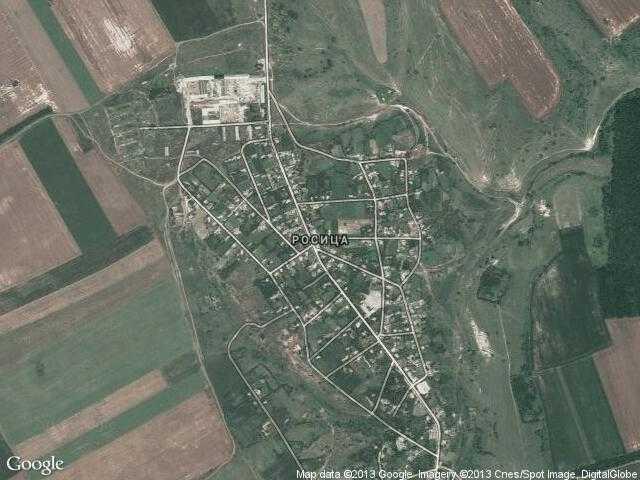 Сателитна карта на Росица