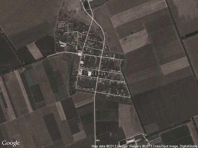 Сателитна карта на Селце