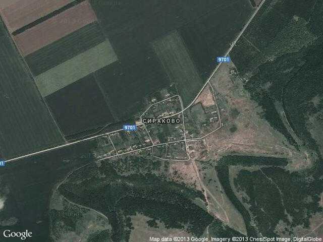 Сателитна карта на Сираково