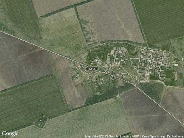 Сателитна карта на Смин
