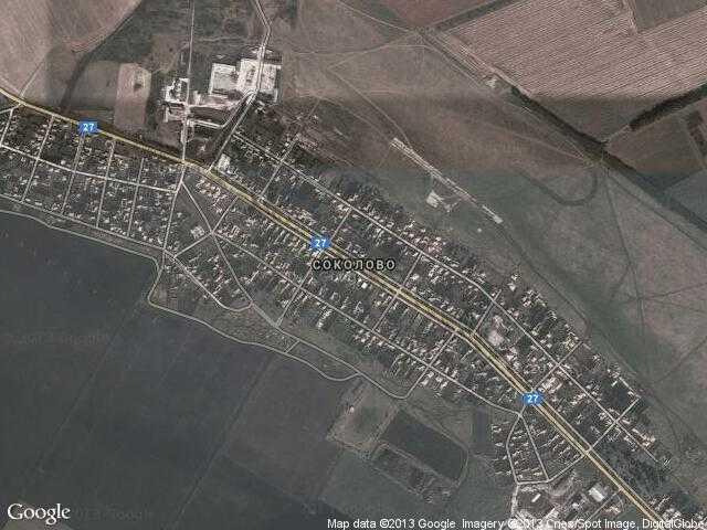Сателитна карта на Соколово