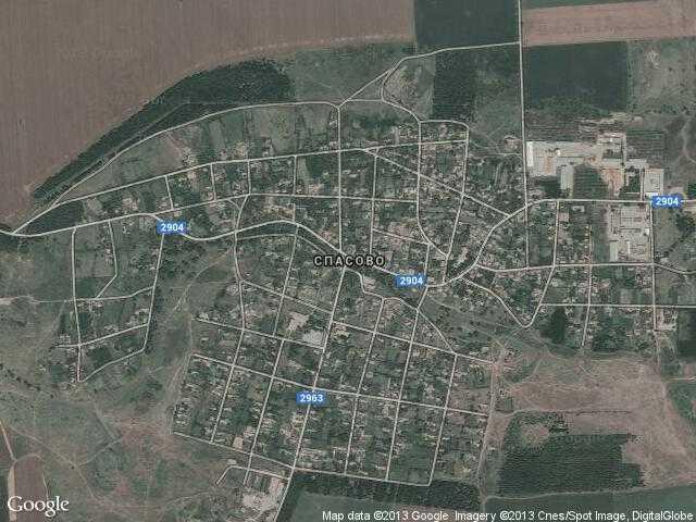 Сателитна карта на Спасово