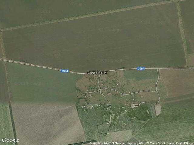 Сателитна карта на Стаевци