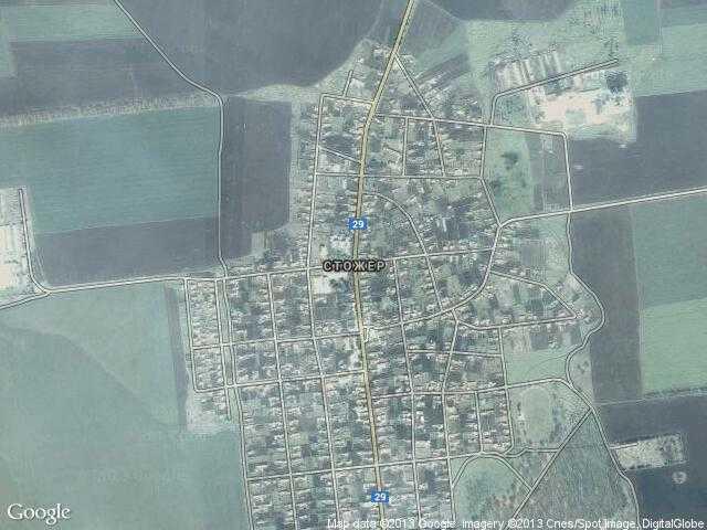 Сателитна карта на Стожер