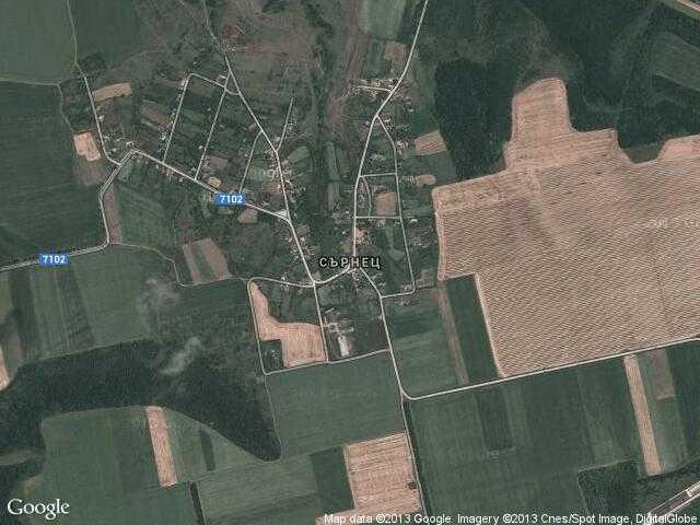 Сателитна карта на Сърнец
