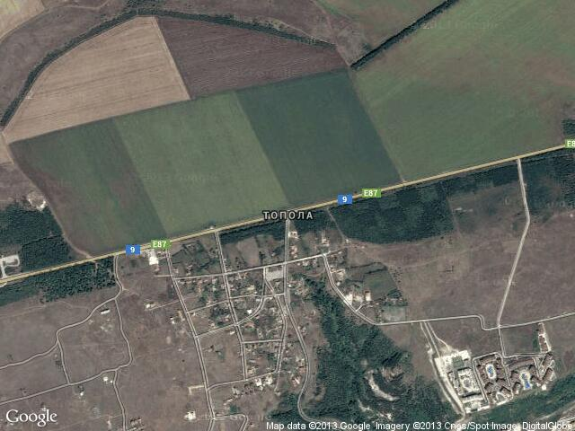 Сателитна карта на Топола