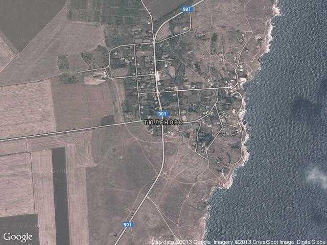 Сателитна карта на Тюленово