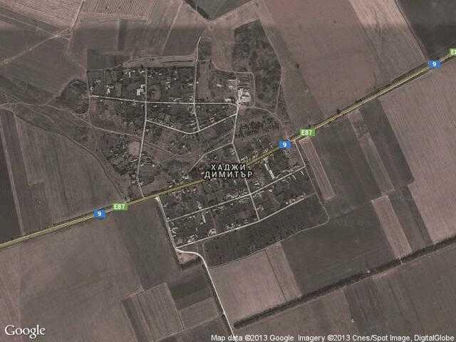 Сателитна карта на Хаджи Димитър