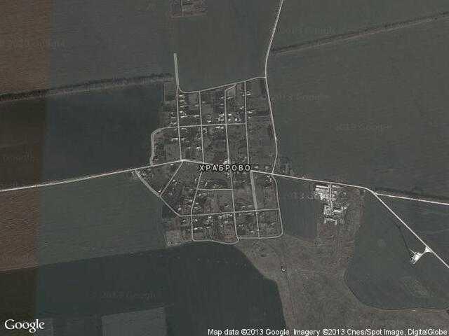 Сателитна карта на Храброво