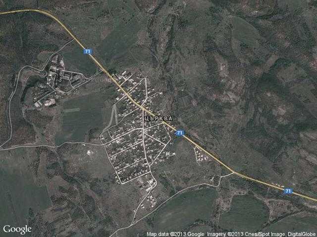 Сателитна карта на Църква