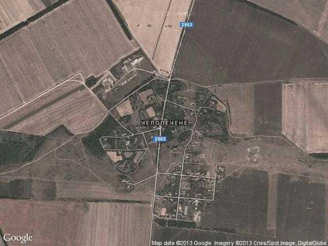 Сателитна карта на Челопечене