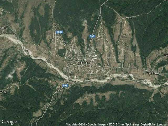 Сателитна карта на Джебел
