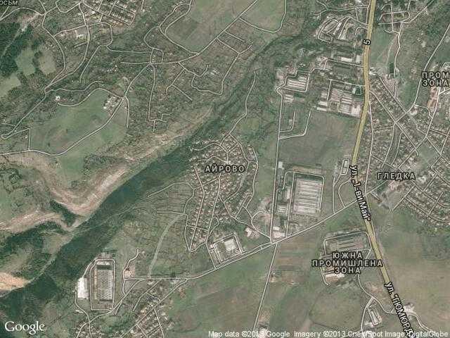 Сателитна карта на Айрово