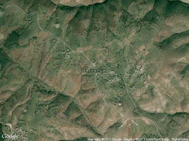 Сателитна карта на Багрилци