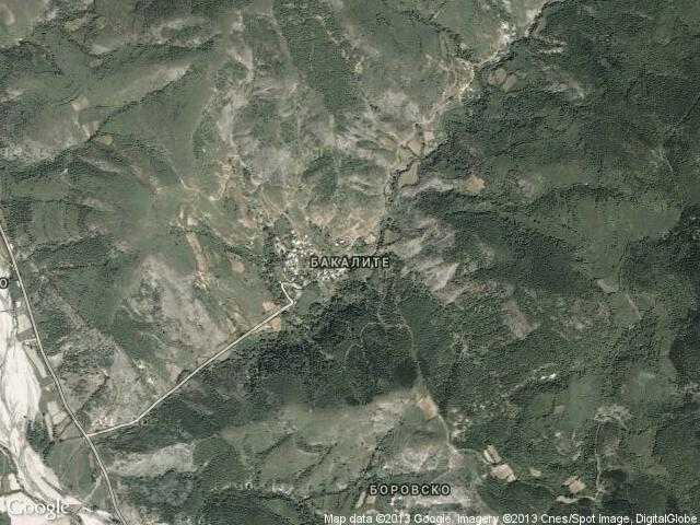Сателитна карта на Бакалите