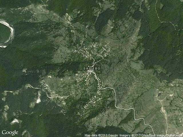 Сателитна карта на Башево