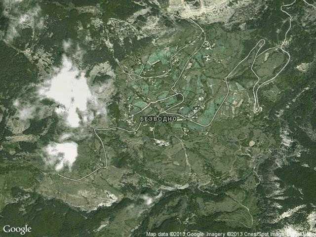 Сателитна карта на Безводно