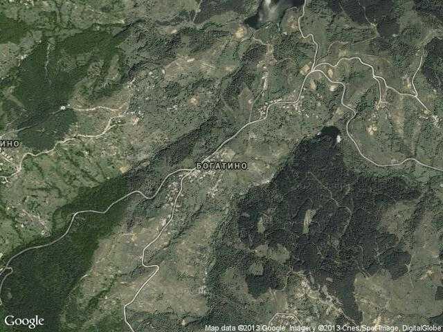 Сателитна карта на Богатино
