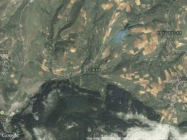 Сателитна карта на Божак