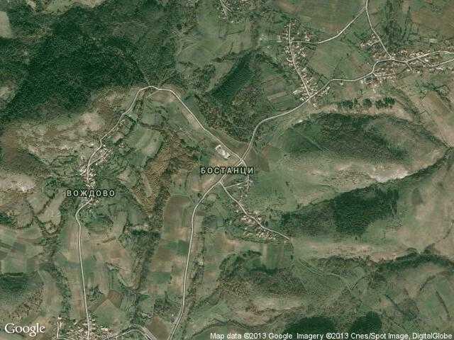 Сателитна карта на Бостанци
