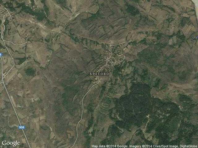 Сателитна карта на Брегово