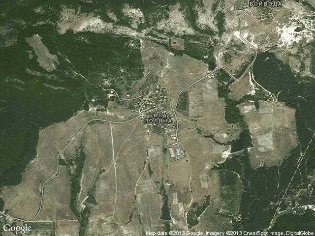 Сателитна карта на Бяла поляна