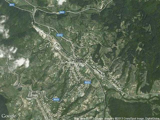Сателитна карта на Бял извор